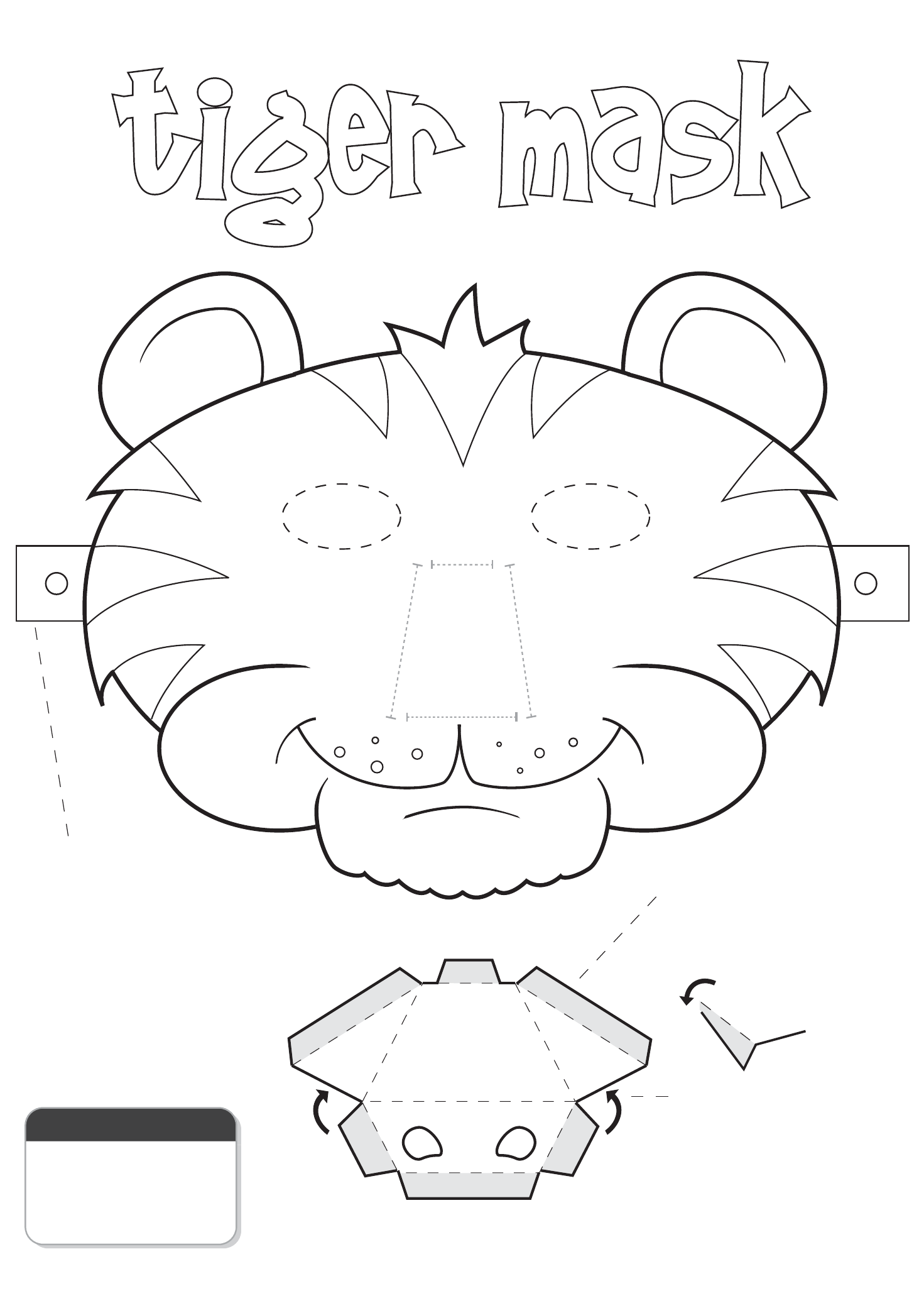 It's just an image of Inventive Printable Tiger Mask