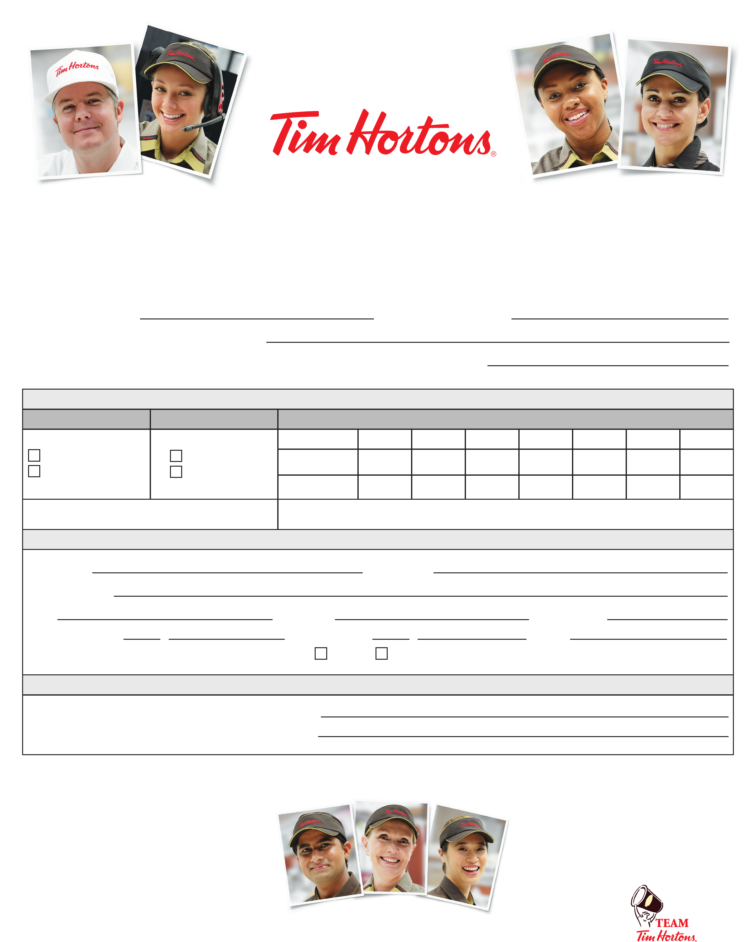 Tim horton employment application from free download falaconquin