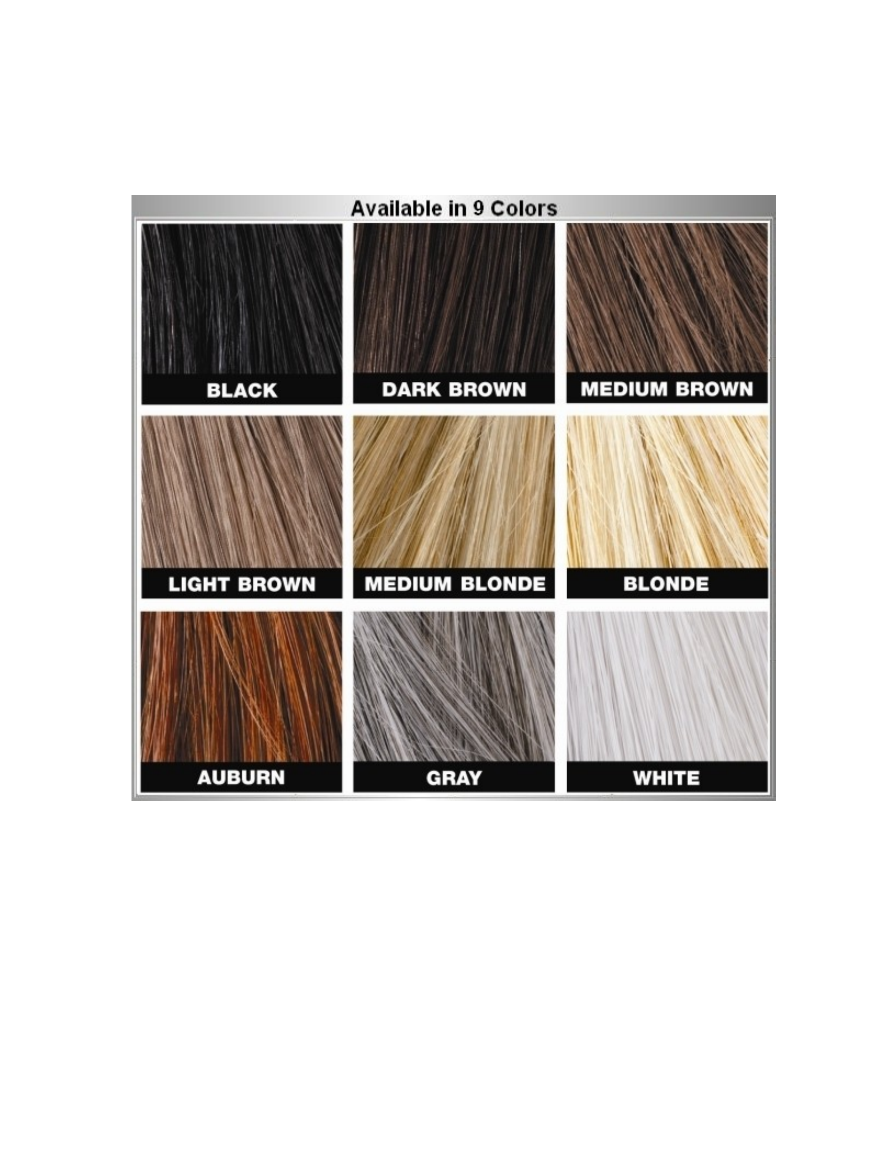 Hair color match chart free download geenschuldenfo Images