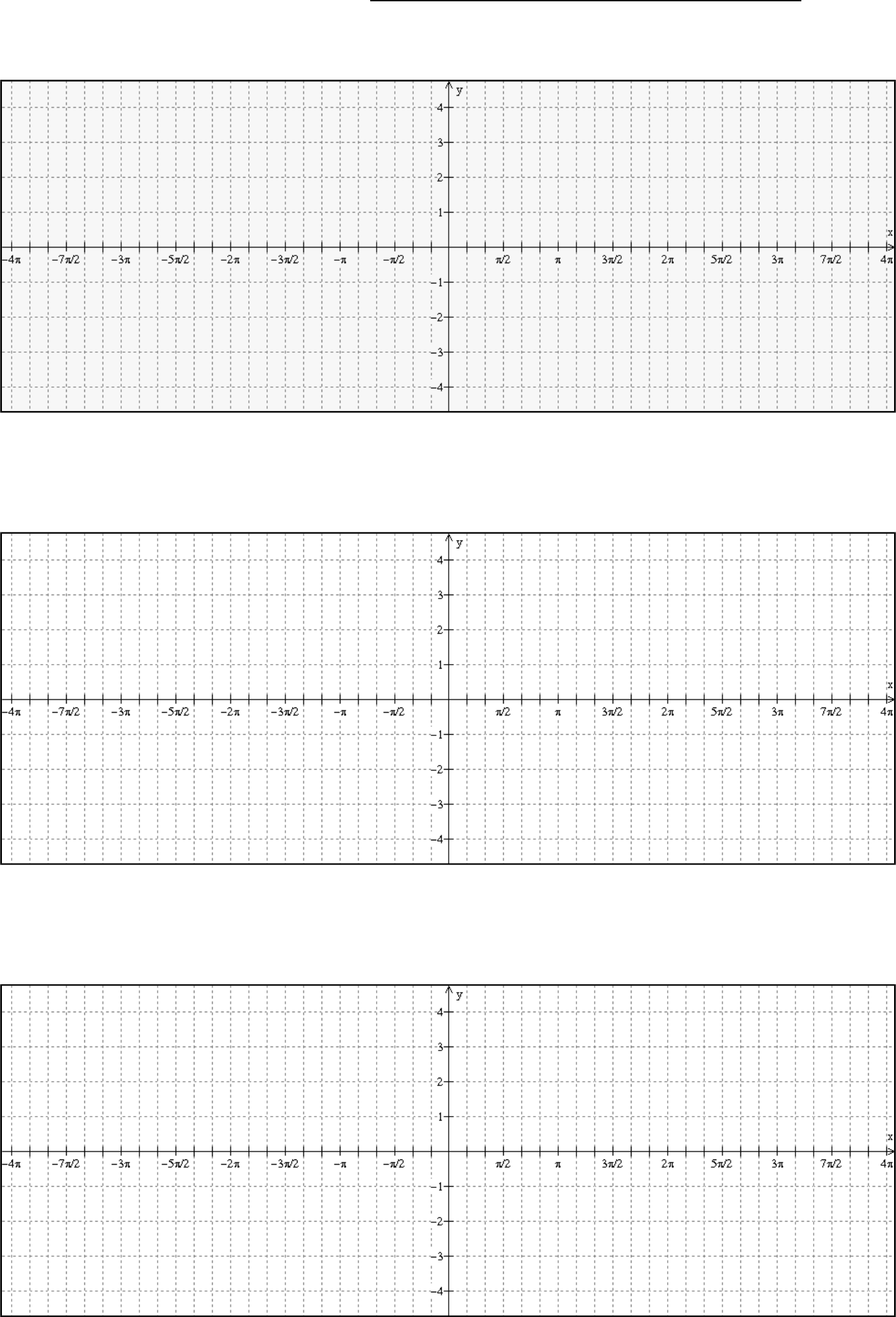 basic trig graph paper form free download