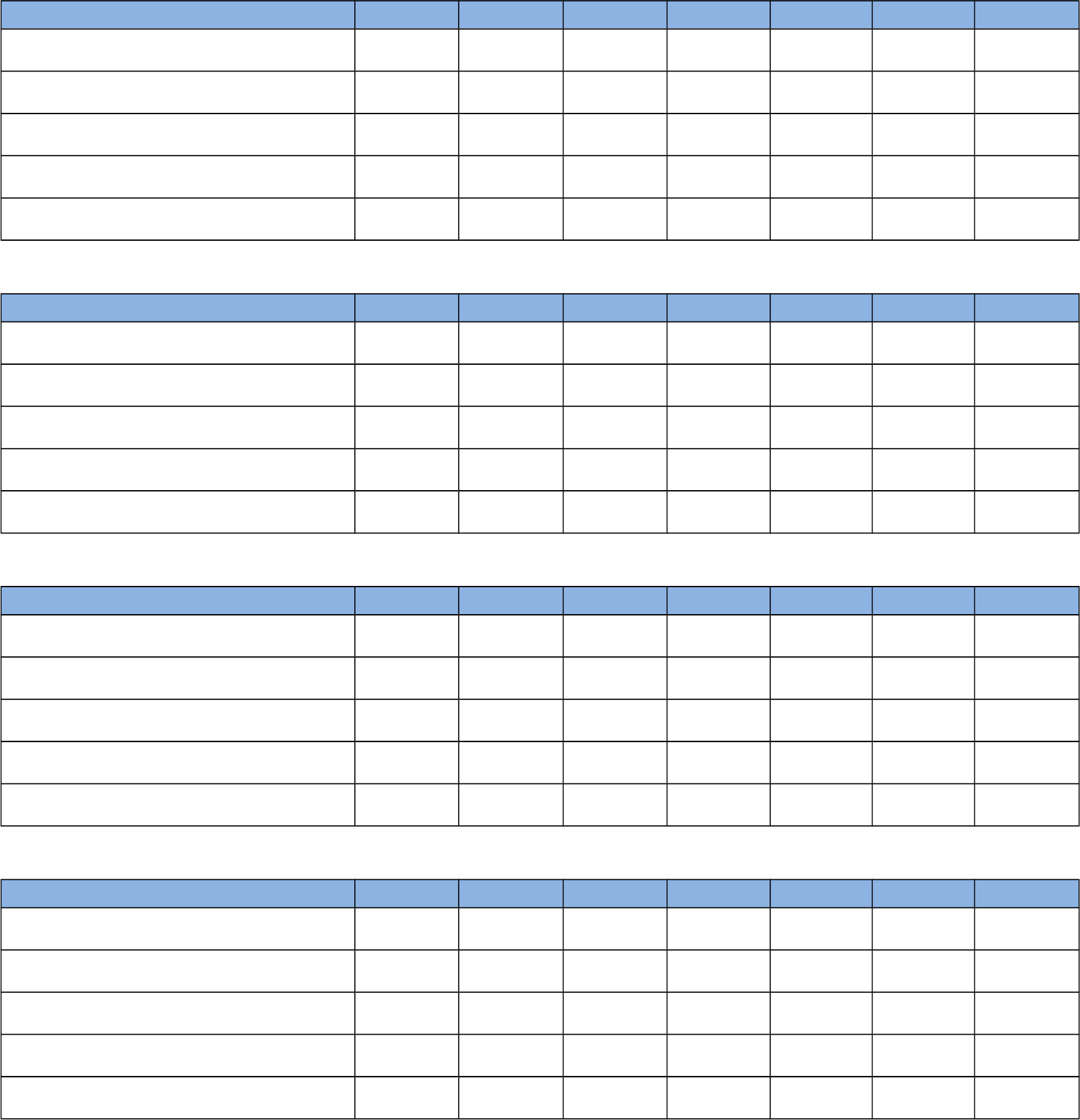 Blank Weekly Kids Chore List Chart Free Download