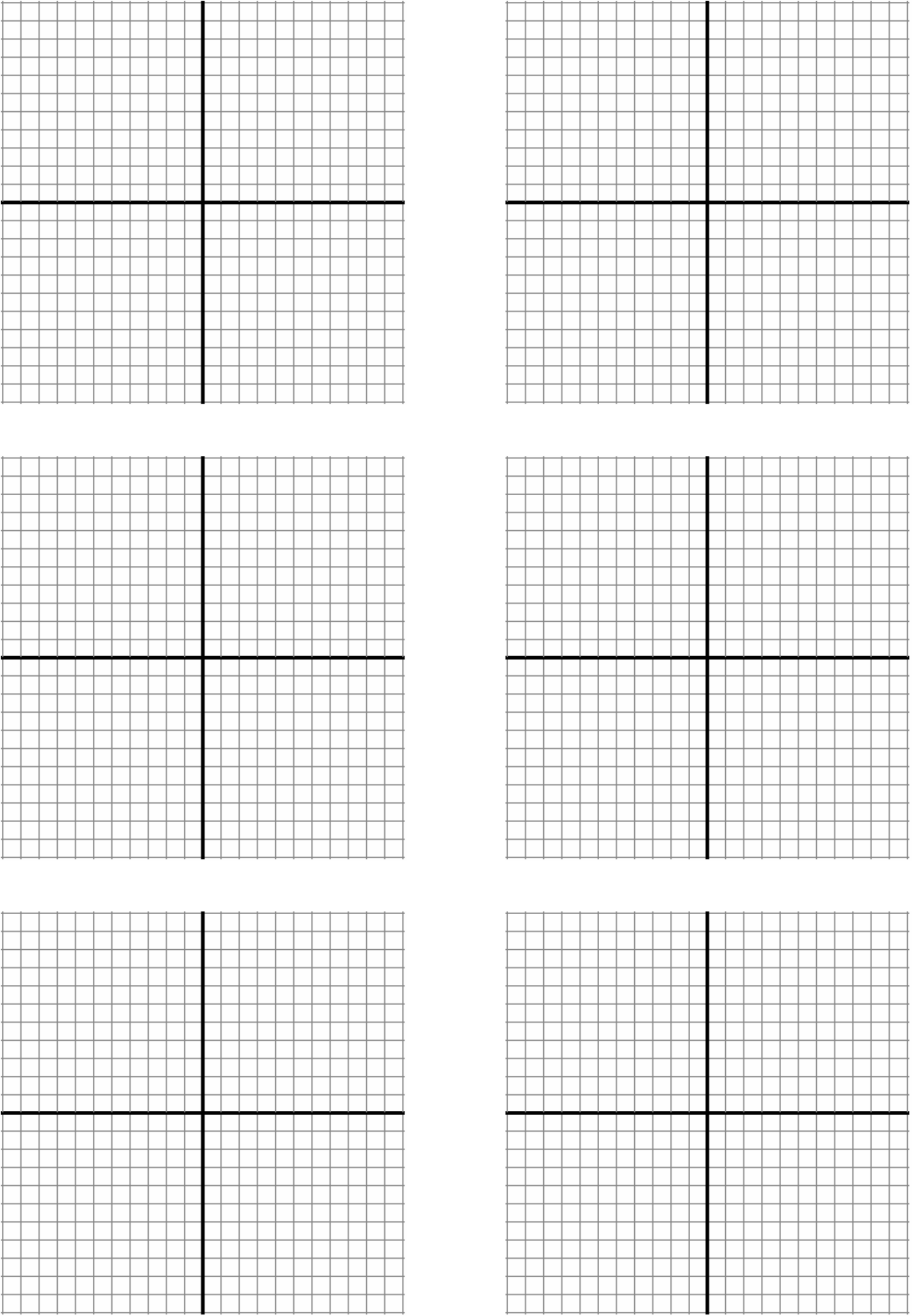 Comprehensive image with printable graph paper with axis