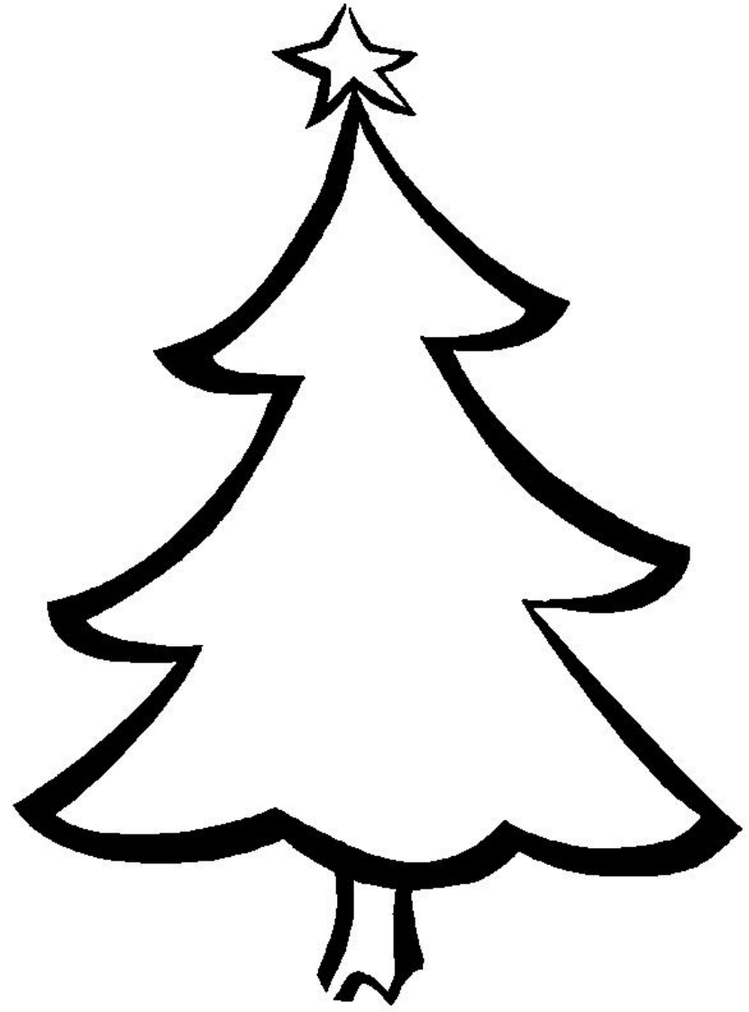 picture relating to Christmas Tree Pattern Printable identified as Straightforward Printable Xmas Tree Totally free Down load