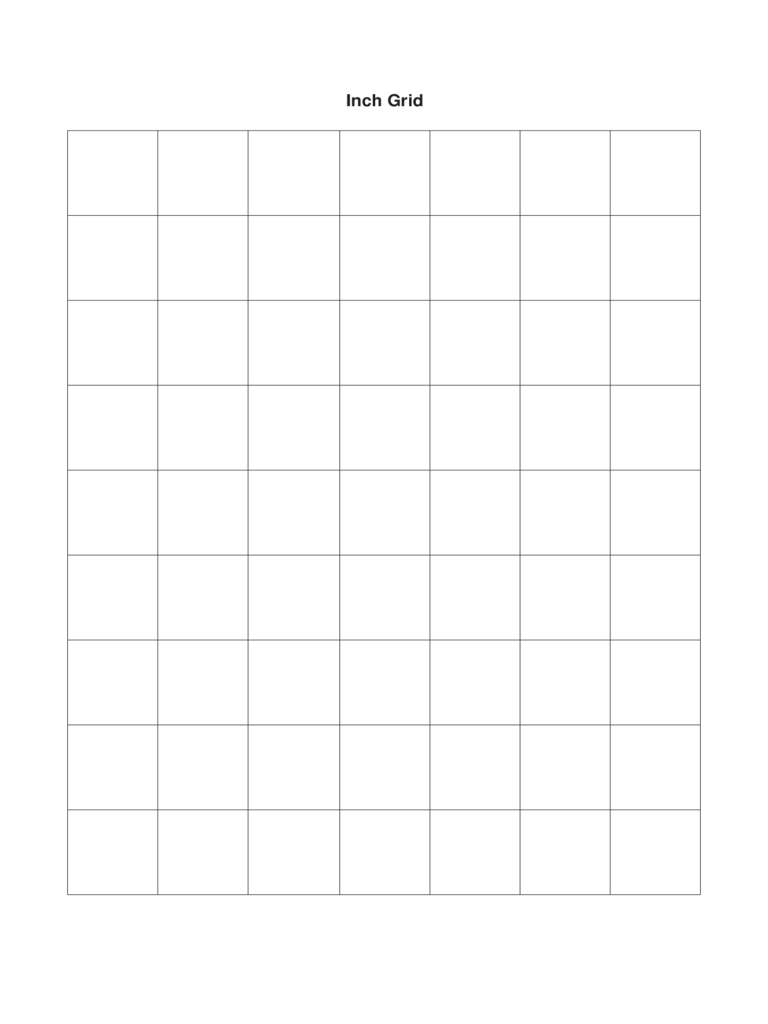1 Inch Grid Paper