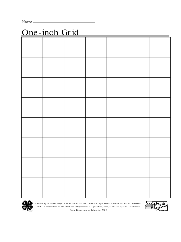 One Inch Grid Paper  Graph Paper Word Document