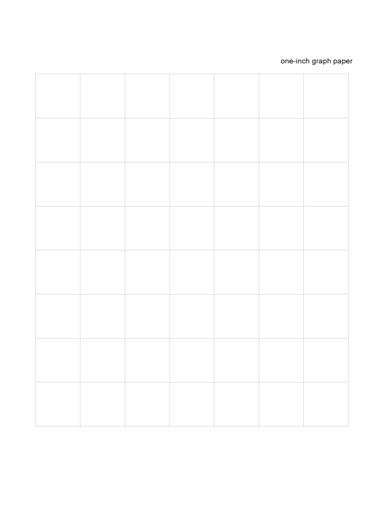 Simple One Inch Graph Paper Form