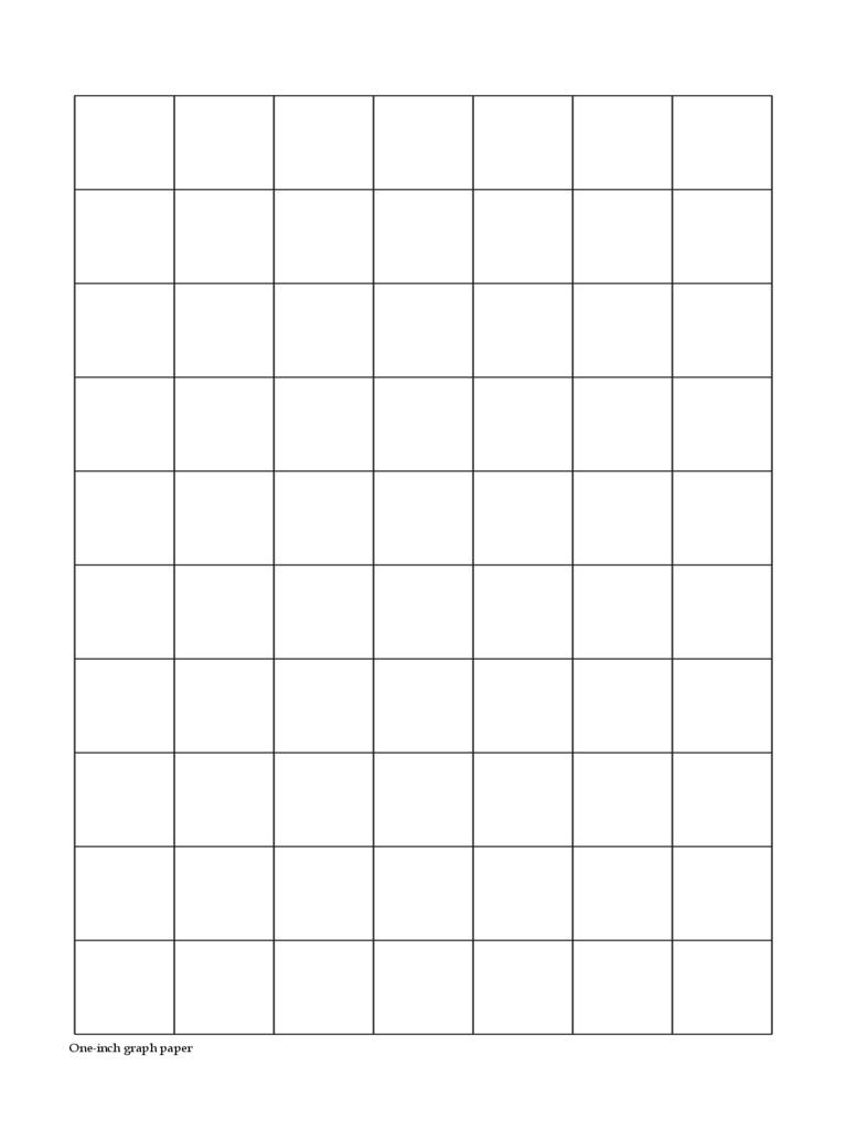 Two Pages 1 Inch Graph Paper Form