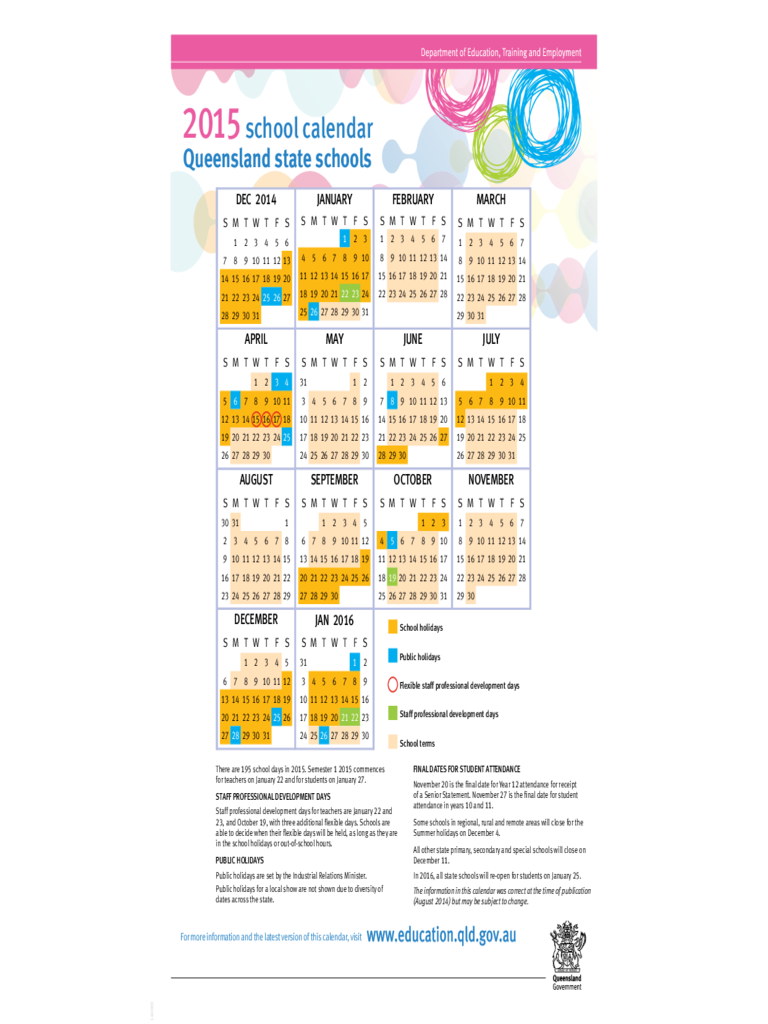 Calendar Queensland : Calendar free templates in pdf word excel download