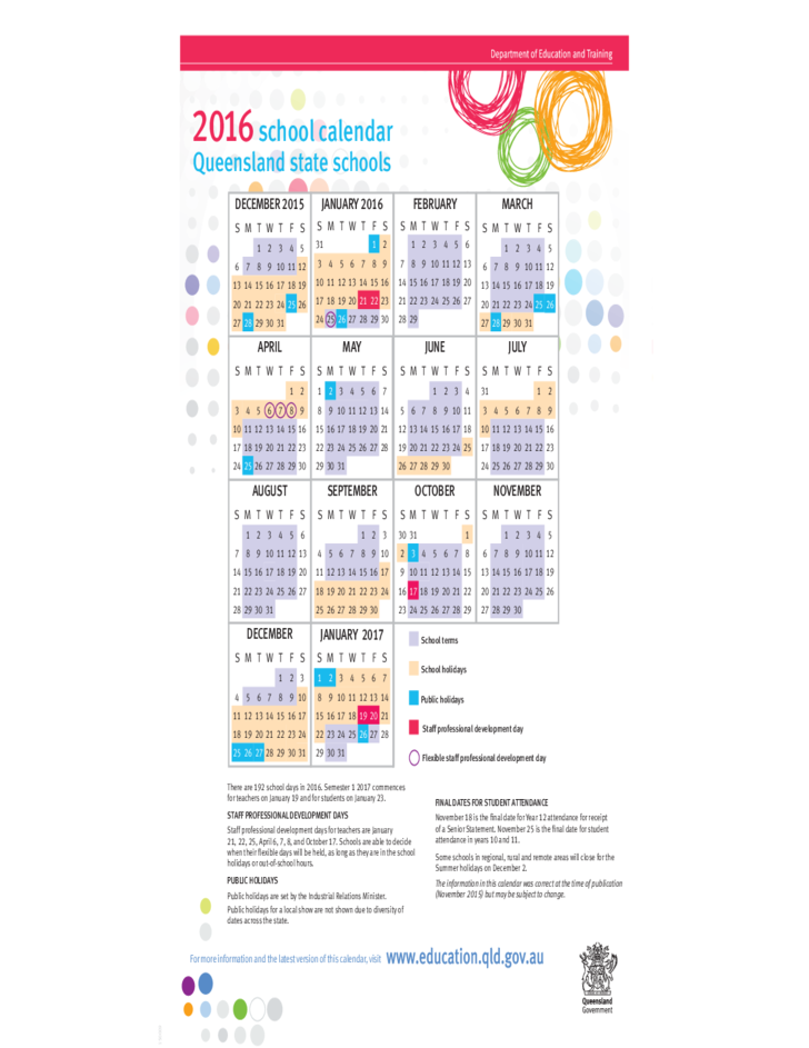 Calendar Qld : School calendar queensland free download