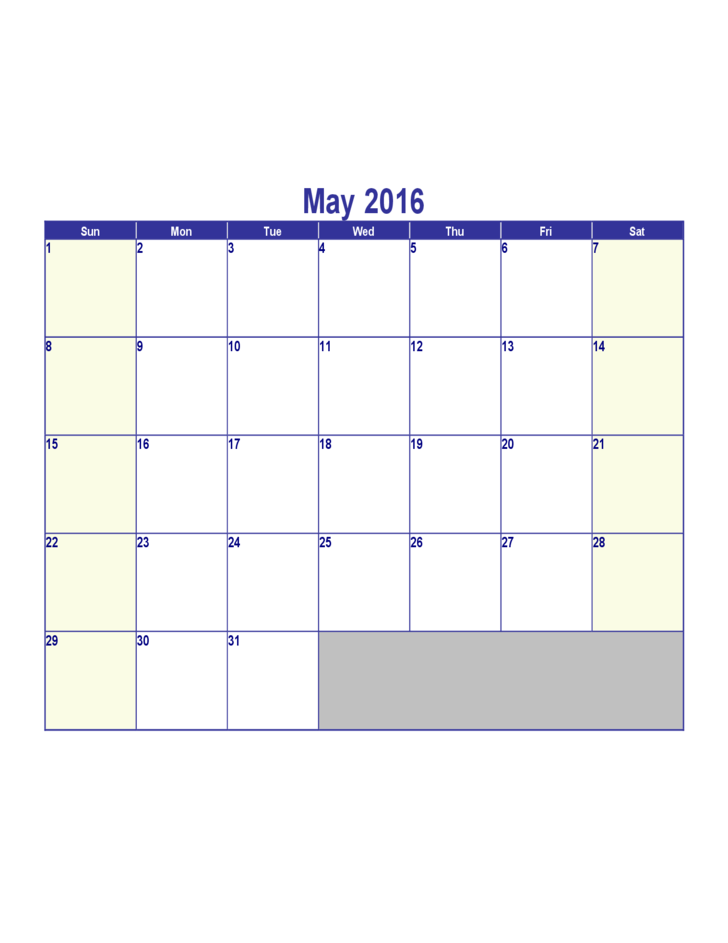Calendar Download May : May calendar template free download
