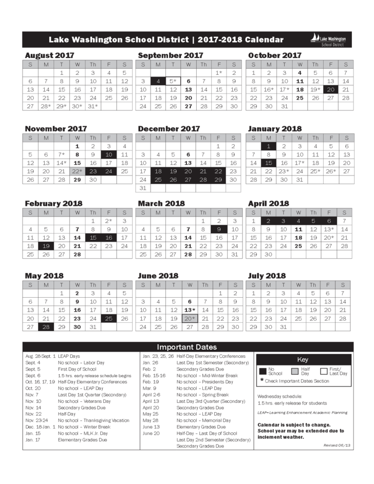 Lwsd Calendar 2022.L A K E W A S H I N G T O N S C H O O L D I S T R I C T C A L E N D A R Zonealarm Results