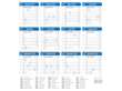 2019 Calendar on One Page