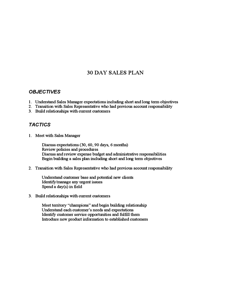6 Sample Medical Device 30 60 90 Day Plan