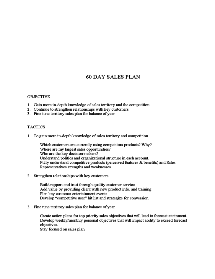 Personal Sales Plan Template | Free 30 60 90 Day Sales Plan Template Download Melo In Tandem Co