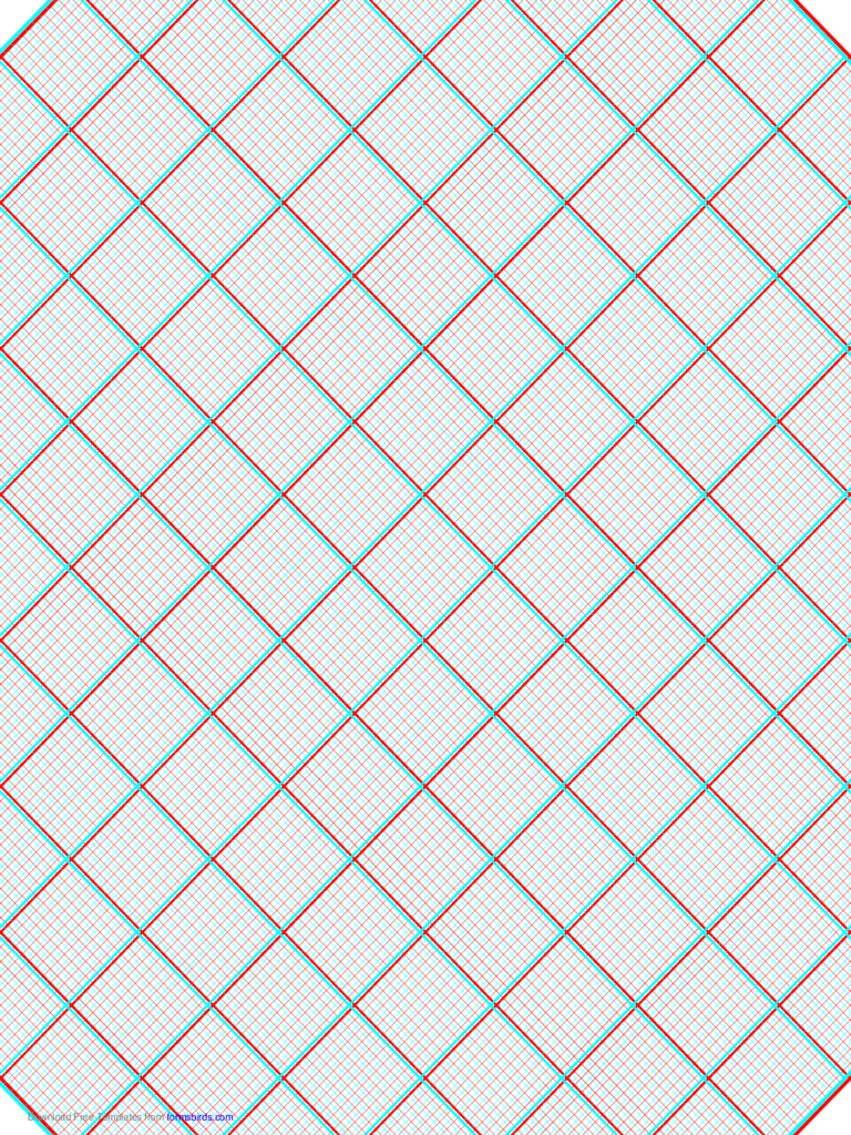 3D Paper - 10x10 Grid with Small Offset