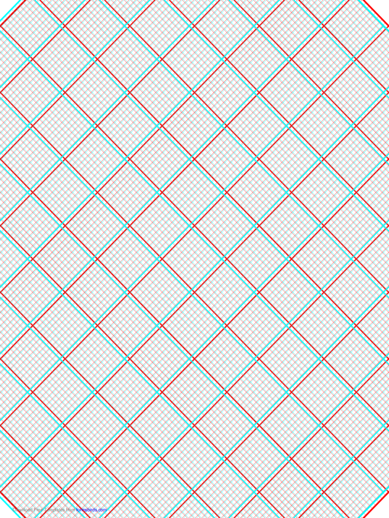 3D Paper - 10x10 Grid with Medium Offset