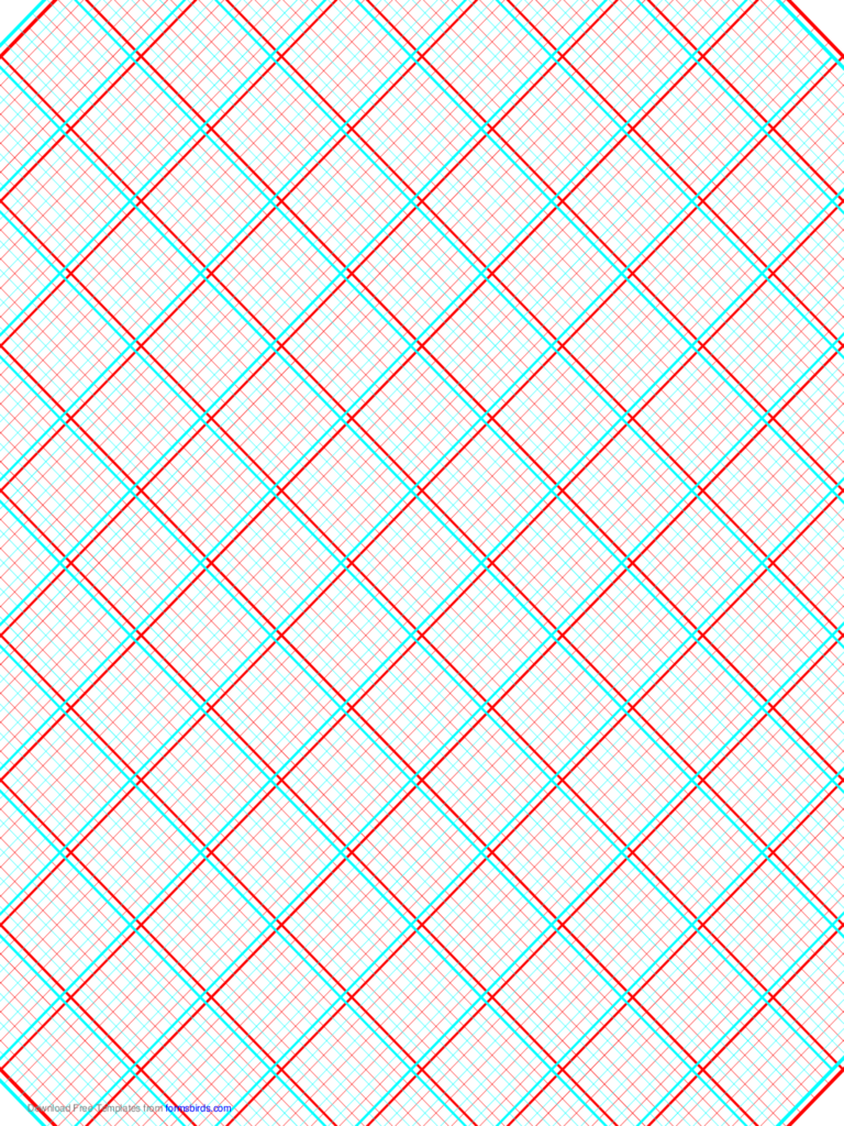 3D Paper - 5x5 Grid with Medium Offset