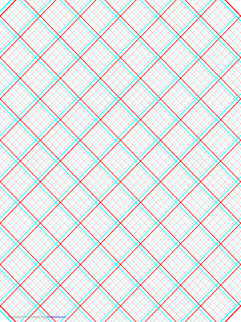 3D Paper - 5x5 Grid with Large Offset