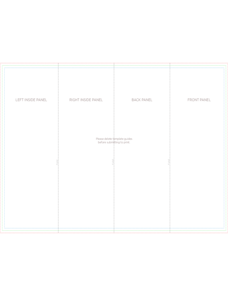 4 panel brochure roll fold template free download for 5 panel brochure template