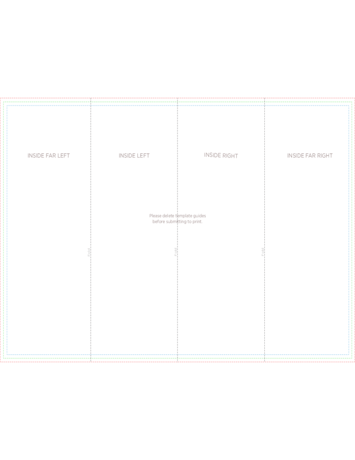 4 panel brochure roll fold template free download for 4 panel brochure template