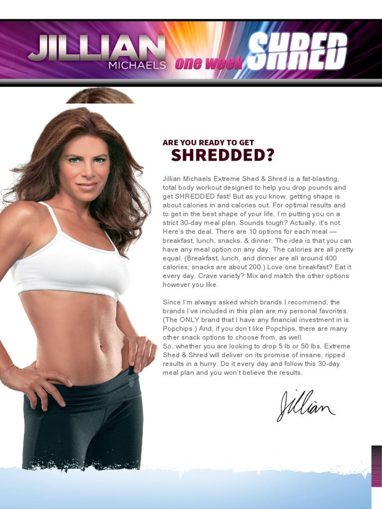 IN JUST 7 DAYS SHREDYOUR BODY