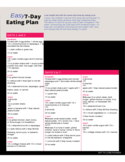 Easy 7-Day Eating Plan Free Download