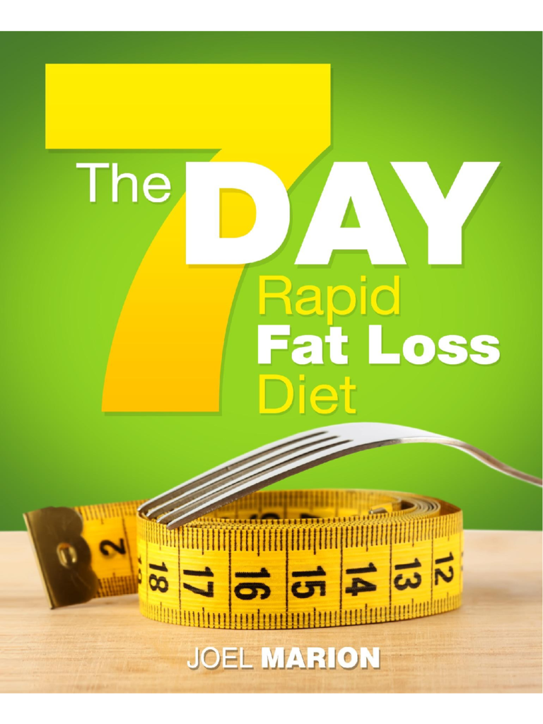 The 7 Day Rapid Fat Loss Diet