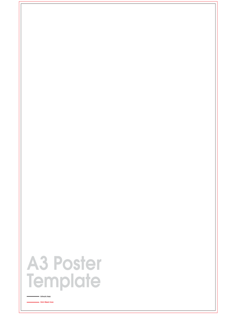 A3 Poster Sample Template