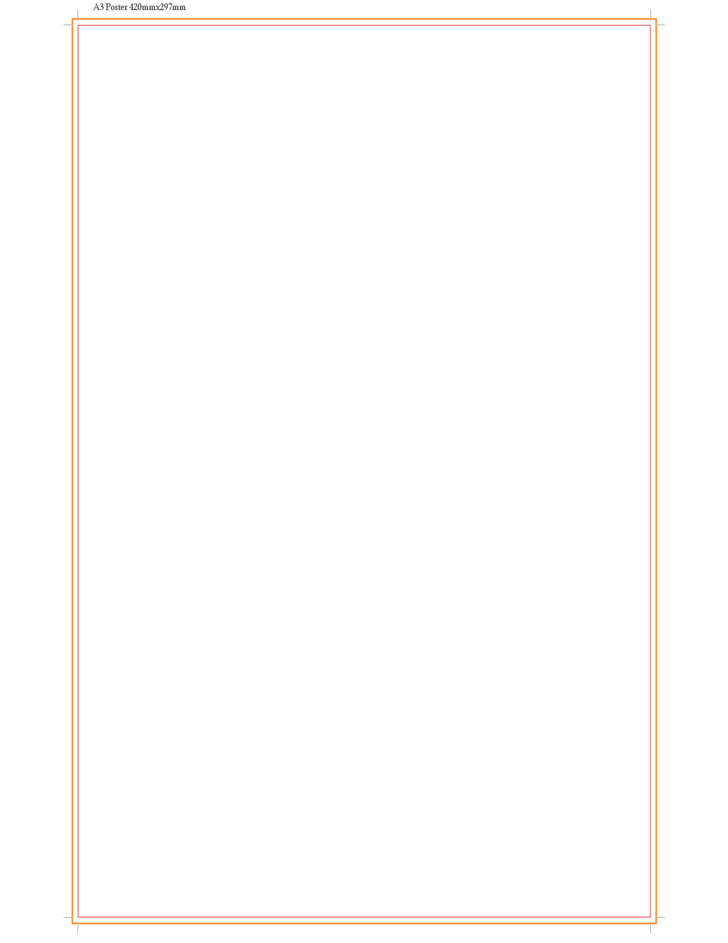 template  a3 poster free download