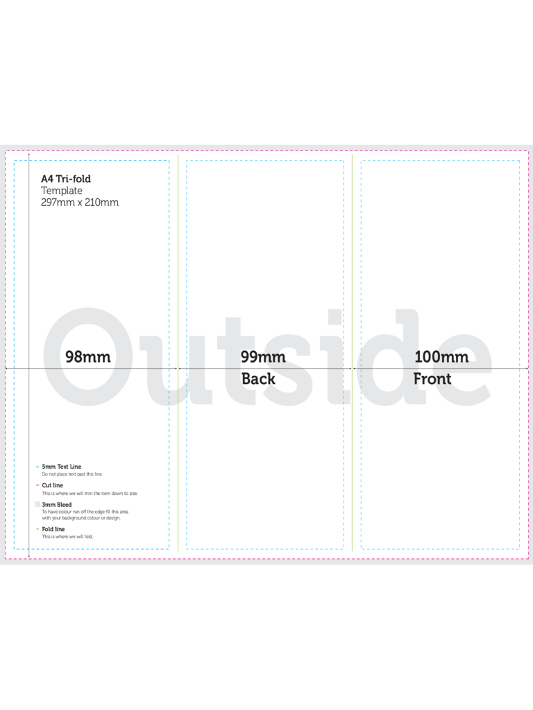 A4 brochure template 2 free templates in pdf word for 4 fold brochure template word