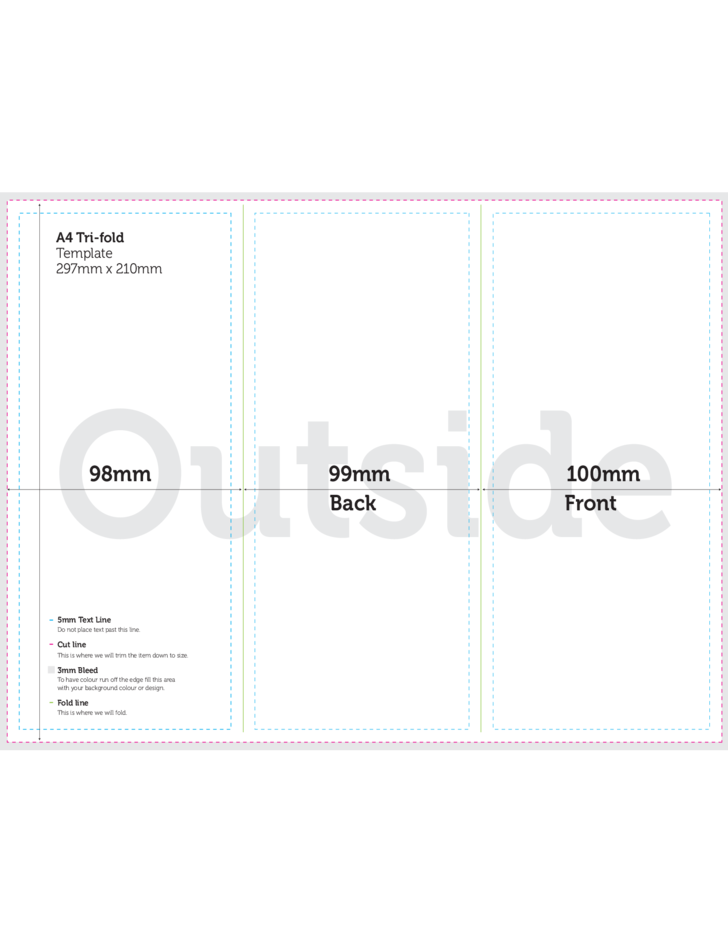 a4 brochure tri fold template free download