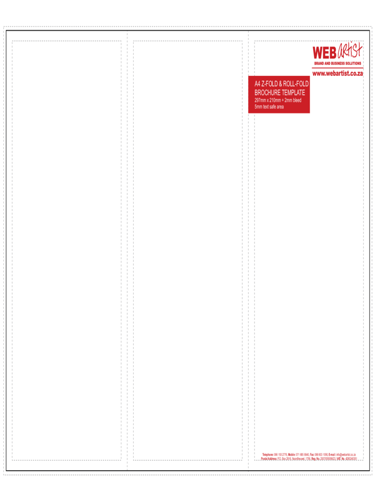 A4 brochure template 2 free templates in pdf word for A4 tri fold brochure template