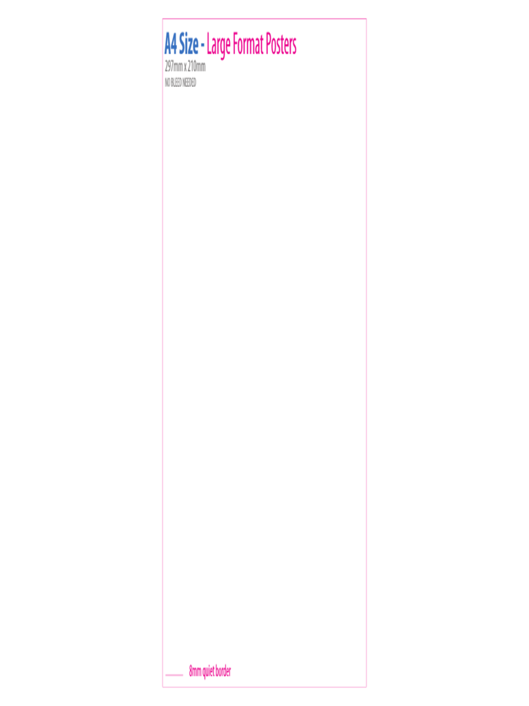 A4 Size Poster Template