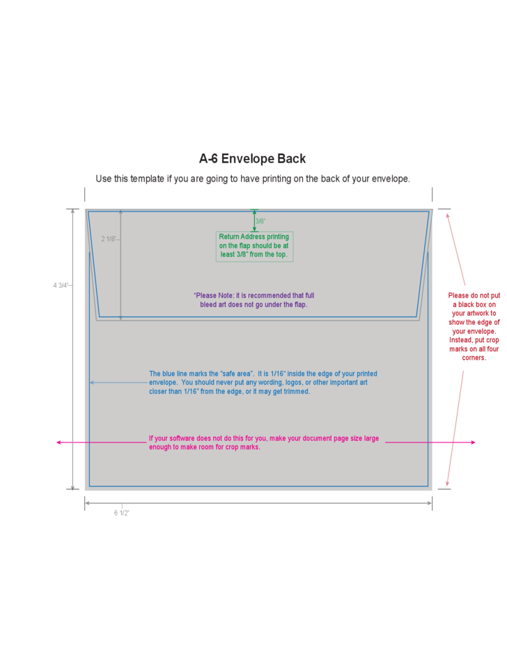 A6 Envelope Example Free Download