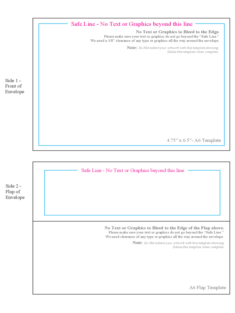A6 Envelope Template 2 Free Templates In Pdf Word