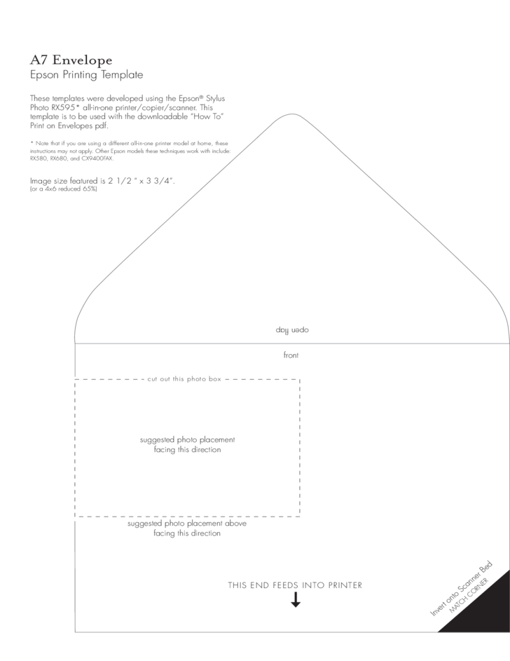 A7 Envelope Example Free Download – Sample A7 Envelope Template