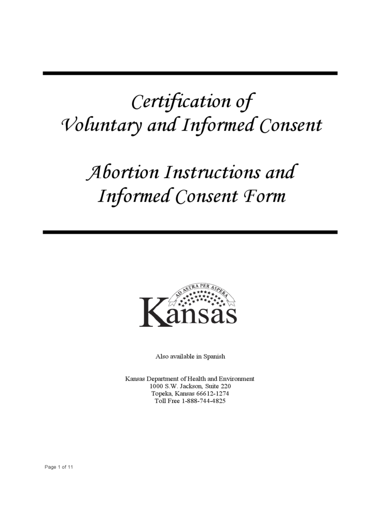Abortion Instructions and Informed Consent Form