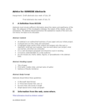 Abstract Guidance and Examples Free Download