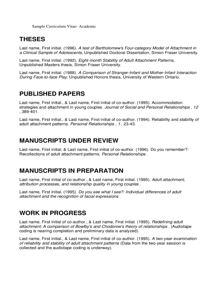 curriculum vitae dissertation research Dissertation thesis  areas of knowledge  professional competencies  graduate fieldwork or practicum  research/teaching assistantships  research/academic interests.