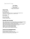 Sample Curriculum Vitae - Academic Free Download