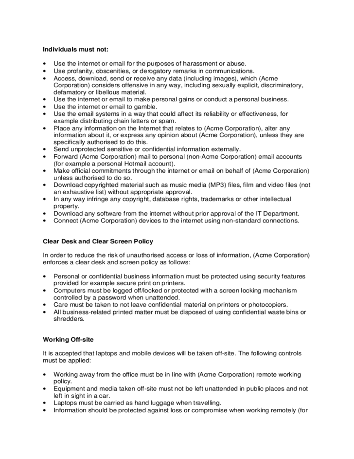 acceptable use email [name of organisation] supports the right of staff to have access to reasonable personal use of the internet and email communications in the workplace purpose this policy sets out guidelines for acceptable use of the computer network, including internet and email by employees of [name of organisation.