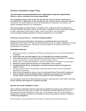 Sample Acceptable Usage Policy Free Download