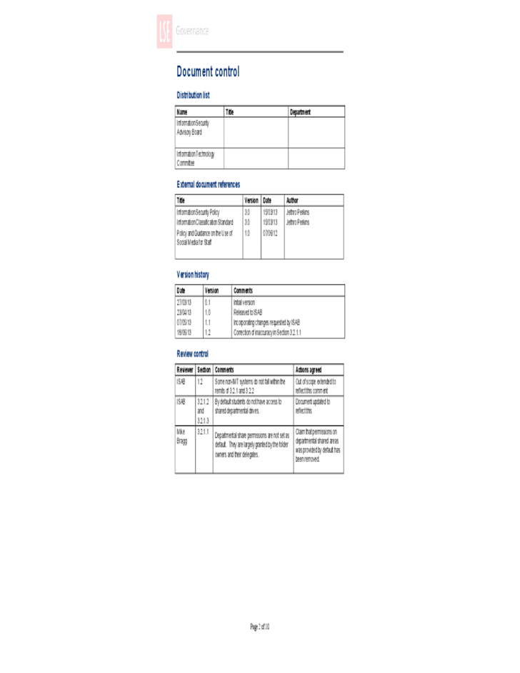 access control policy template access control policy sample free download