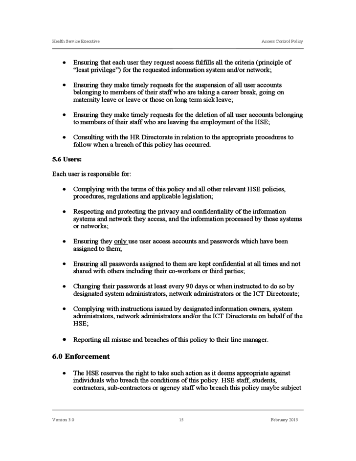 Standard access control policy template free download for Physical access control policy template