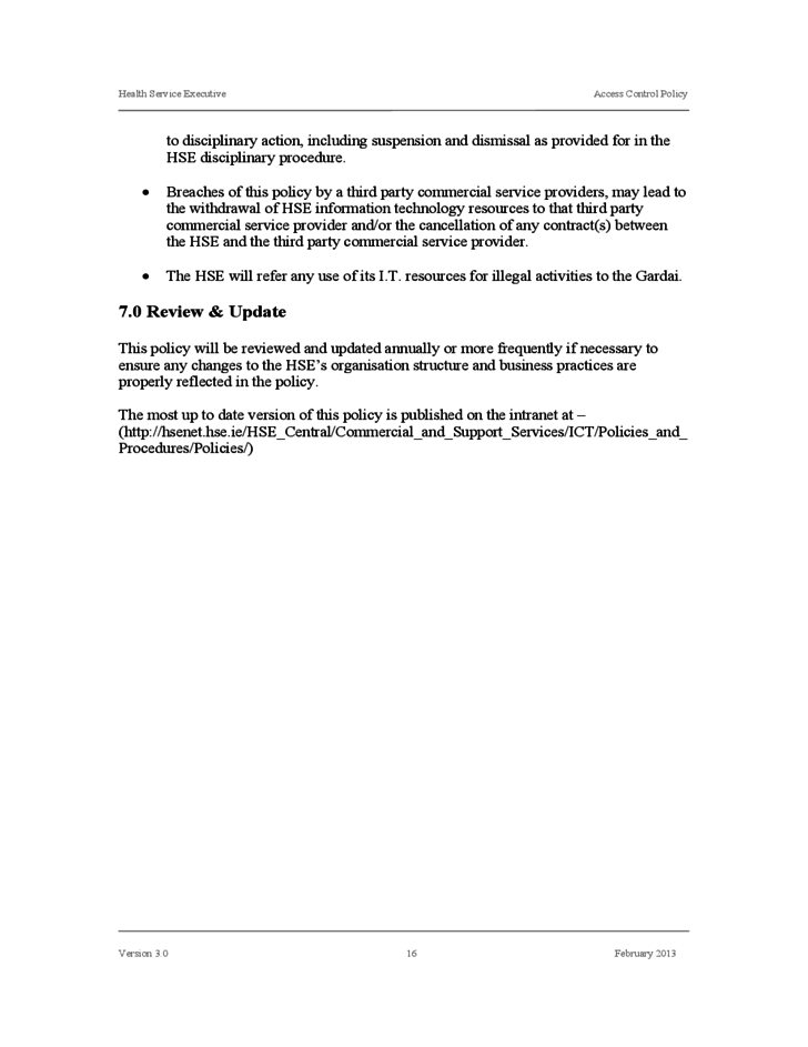 Access Control Policy Template | Standard Access Control Policy Template Free Download
