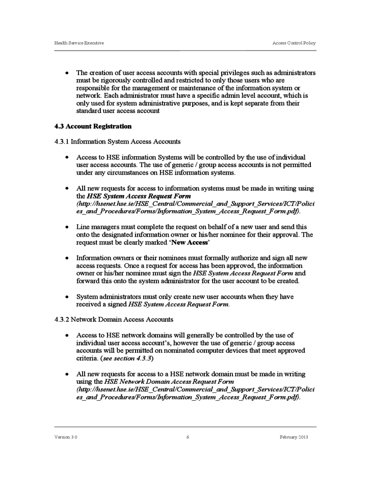 Access policy template 28 images electronic mail for Physical access control policy template