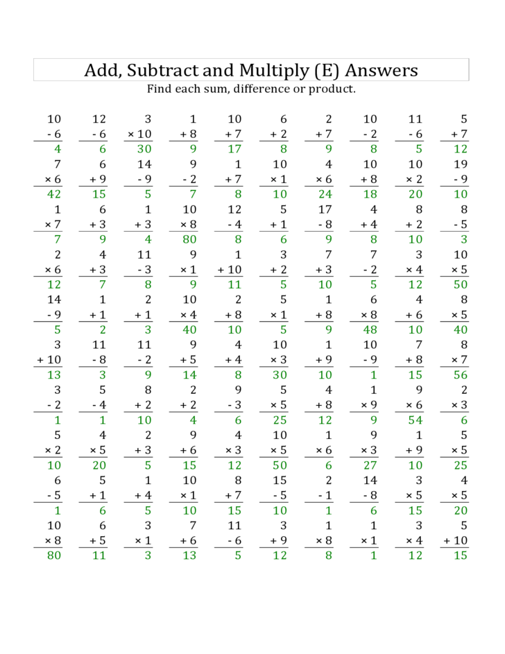 ... worksheets n1 l1 4 skills : Adding And Subtracting To 1000 Worksheets