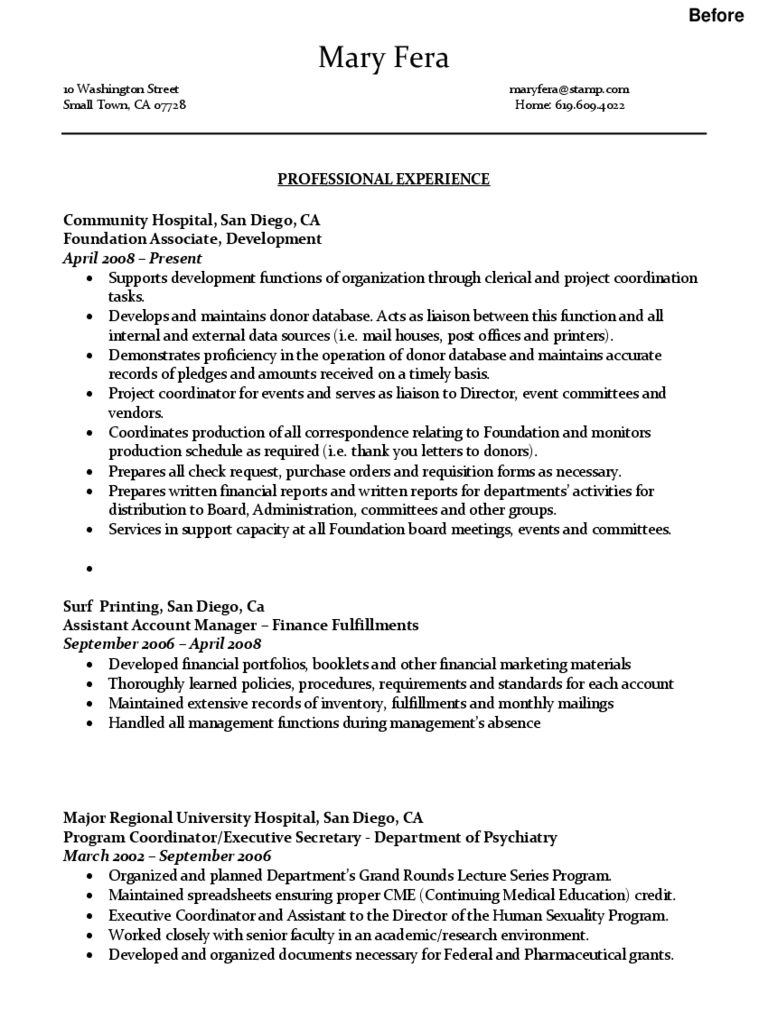 Administrative Assistant Resume Template - 2 Free Templates in PDF ...