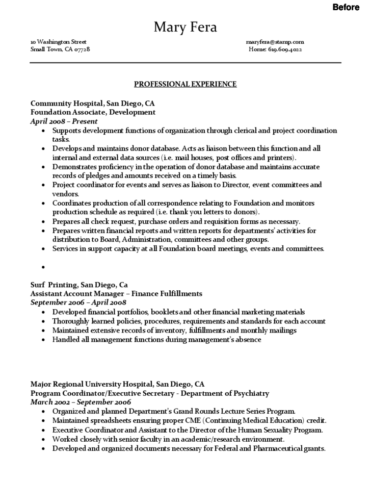sample administrative assistant resume free download