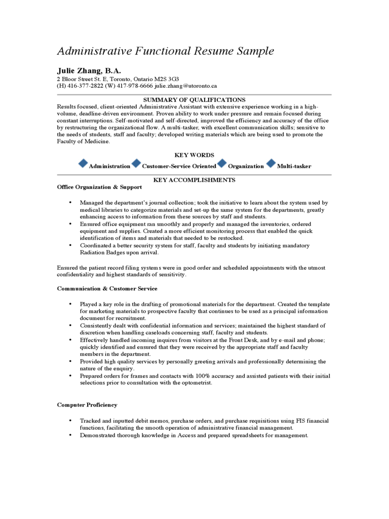 administrative assistant resume template 2 free templates in pdf word excel download